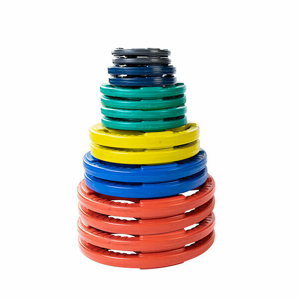 355 lb. color Coded Rubber Grip Olympic Plate Set  - ORCT355 - Body-Solid  best prices and freshest styles