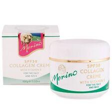 New Zealand Merino Collagen Creme, SPF30+ Vitamin E Lanolin Smooth Wrinkles 100g