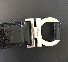 Salvatore Ferragamo Belt..Mens..Black..Used..size 40