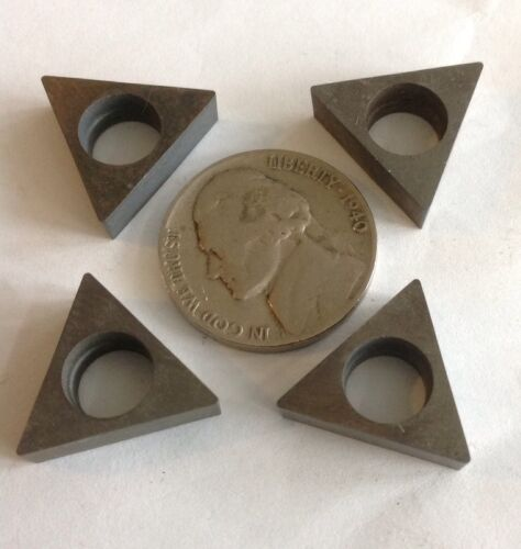 4 triangle carbide turning milling holder shim seat 5//8 x .18 TNMC TPG with hole