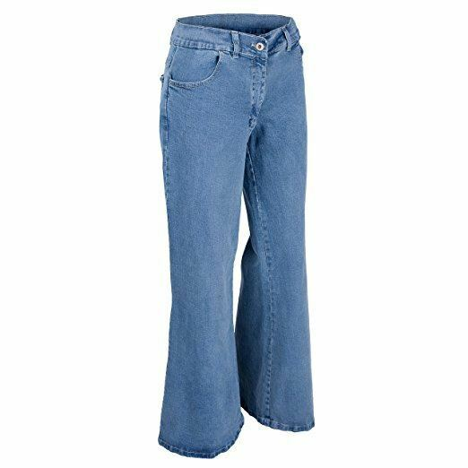 e0649710483 Clove Women Jeans Hippie Bell Bottom Flare Light Snow Denim Plus ...