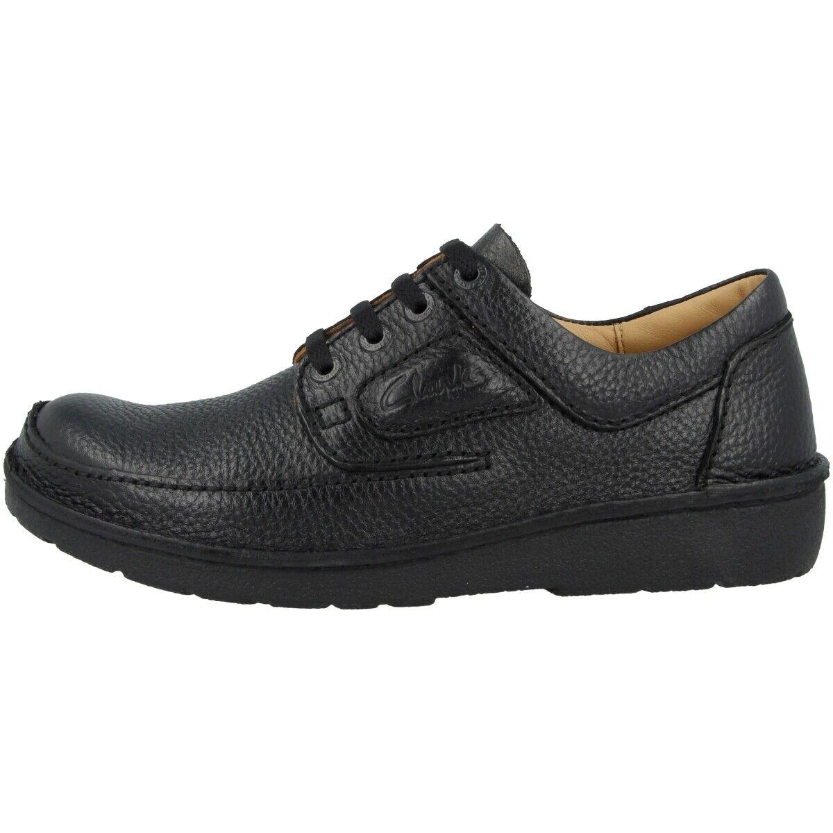 Clarks Nature II Schuhe Herren Halbschuhe Leder Freizeit Schnürschuhe 26142039
