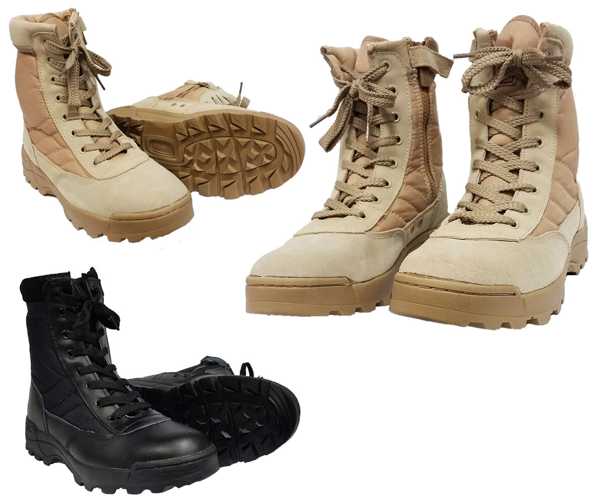 Mens Work Military Patrol Army Cadet Shoes Combat Patrol Tactical Patrol Military Desert Boots 53c5a2
