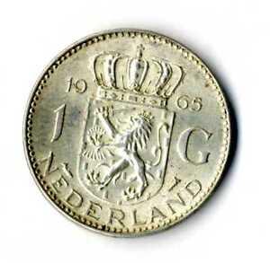 Moneda-Holanda-1965-1-Florin-Juliana-plata-0-720-silver-coin-Nederland