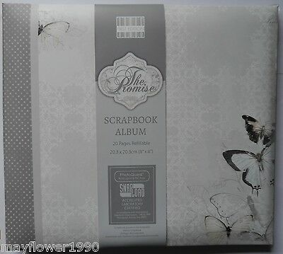 "First Edition  8"" x 8"" SCRAPBOOK ALBUM The Promise wedding romance"