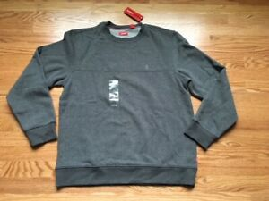NWT Izod Men/'s Sueded Fleece Sweatshirt Gray Size M MSRP $50******************