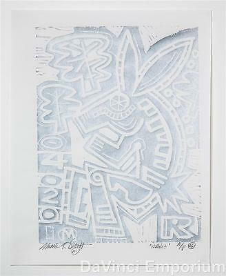 Mark T. Smith Rabbit Signed Limited Edition Linocut Block Print