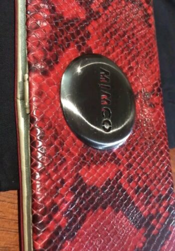 ???Mimcotro Mars Red Wallet Clutch Genuine Leather Handbag +Dust Bag???