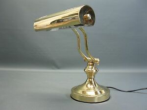 Laiton lampe de bureau banker table banquier cm ebay