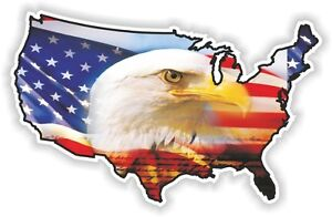 image is loading usa eagle sticker america united states map flag