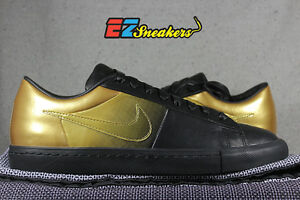 NIKE BLAZER LOW SP PEDRO LOURENCO BLACK GOLD 718798-008 NEW SIZE 9.5