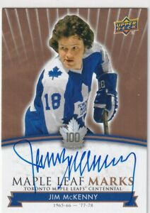 17-18-UD-MAPLE-LEAFS-CENTENNIAL-JIM-MCKENNY-MARKS-AUTOGRAPH-AUTO