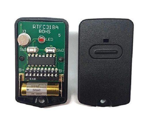 GTO porte de garage gris foncé Télécommande Comp 318 MHz