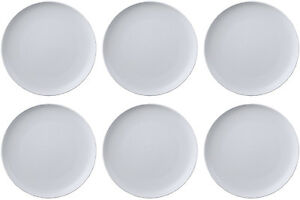 Image is loading QUEENS-JAMIE-OLIVER-WHITE-6-x-DINNER-PLATES-  sc 1 st  eBay & QUEENS JAMIE OLIVER WHITE 6 x DINNER PLATES (PUKKA) 27cm - BRAND NEW ...