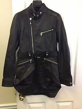 Diesel Black Gold Lugete Women's Leather Jacket Size 38