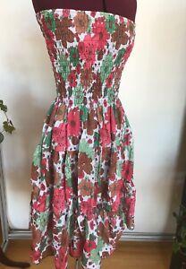2in1-Floral-stretch-strapless-dress-maxi-skirt-juniors-XL-bust-30-34-034-36-034-L-NWT