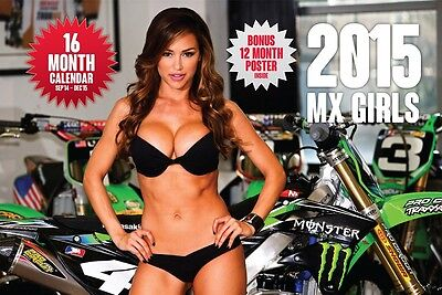 2015 MX GIRLS CALENDAR motocross supercross pin up dirt bike motorcycle poster