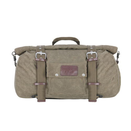 Oxford Heritage Classic Retro Motorcycle Roll Bag Waxed Cotton Khaki 30 L OL577