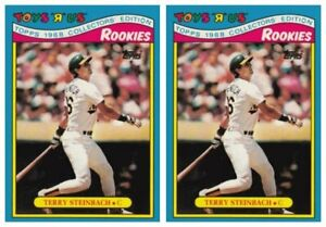 (2) 1988 Topps Toys R' Us Rookies Baseball 30 Terry Steinbach Lot Athletics