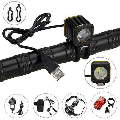 MINI USB 5000lm 3modes XM-L T6 LED BICYCLE LIGHT HEAD TORCH BIKE MOUNTAIN LAMP