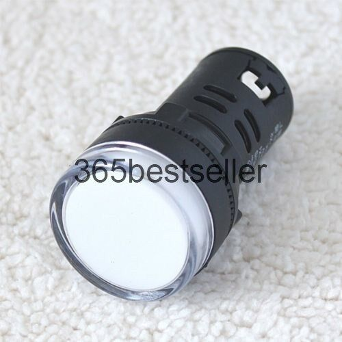2Pcs New White Color AC 110V 22mm LED Power Indicator Signal Light Fast Ship