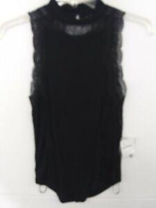 Free-People-Dale-lace-tank-top-in-Black-open-back-Women-039-s-XS-NWT-48