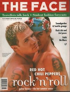 The Face Uk Magazine August 1992 Red Hot Chili Peppers Flea Anthony 102819ame2 74470726890 Ebay