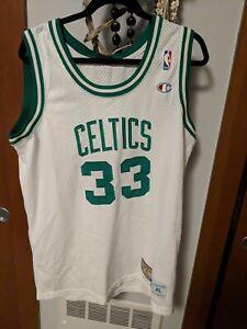 new arrivals 73914 4d7e3 Details about Vintage Champion Larry Bird Celtics 33 Hardwood Classics  jersey white Size XL