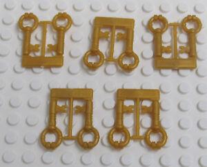 Minifig Utensil LEGO New on Sprue Chrome Gold Keys