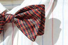 The Bow Tie Club Blue & Red Check Self-Tie All Silk Adjustable Bow Tie
