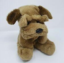 VINTAGE PLUSH PUPPY DOG RAFFOLER 1986 STUFFED ANIMAL TOY BROWN TAN WRINKLE PUP