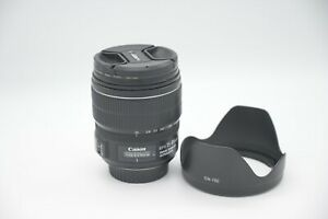 Canon EF-S 15-85mm f/3.5-5.6 IS USM Lens w/UV Filter EXCELLENT Condition