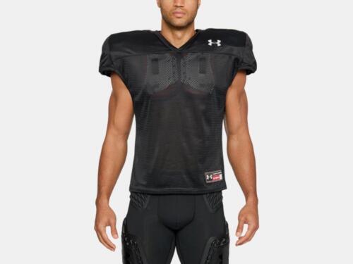 Under Armour Men/'s Football Practice Jersey 1276840-001 Black