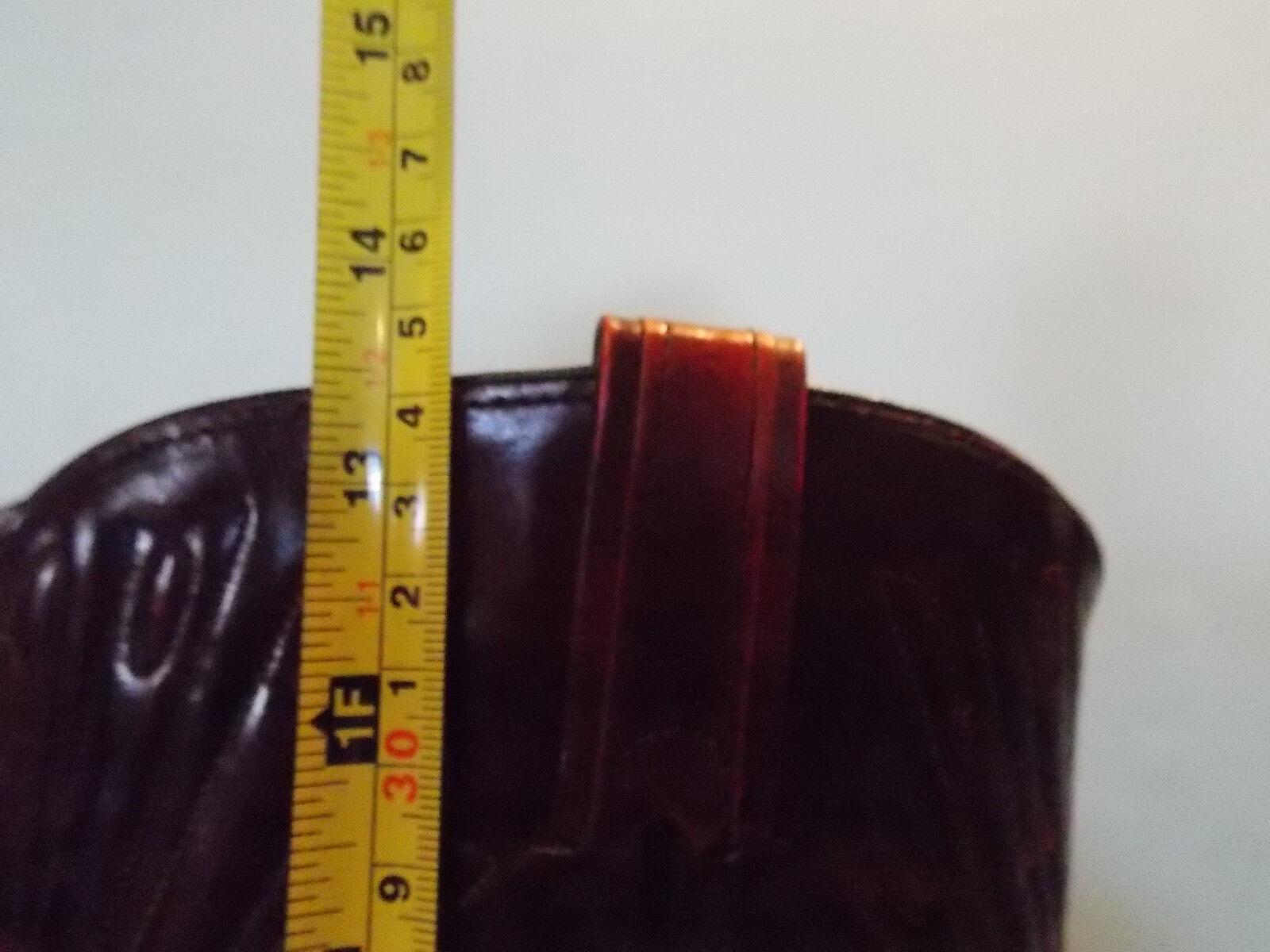 Vintage Sear Burgundy Brown Leather Western Cowboy 8 Boots 8 Cowboy D 93021d