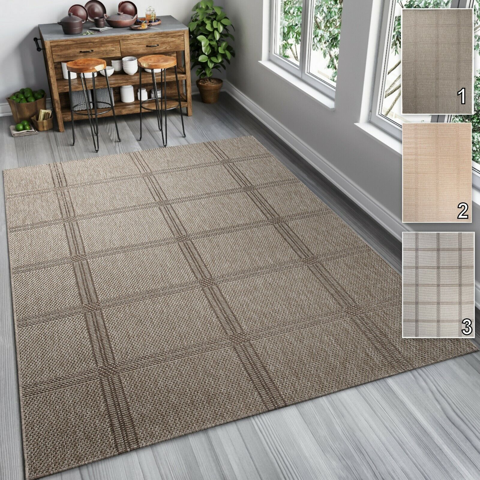 Tapiso Outdoor Indoor tappeti sisal come per cucina Patio DINNING ROOM 6mm Pile