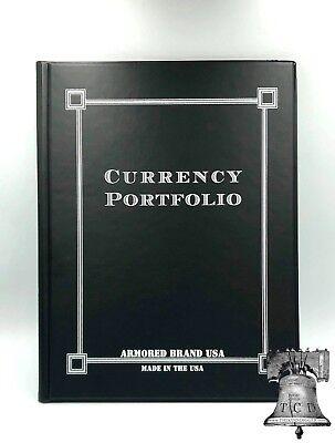 Currency Portfolio Armored USA Burgundy 30 Pocket