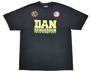 Vintage-Dan-Henderson-Team-Quest-Pride-FC-Tee-Black-Size-XL-Mens-T-Shirt-MMA