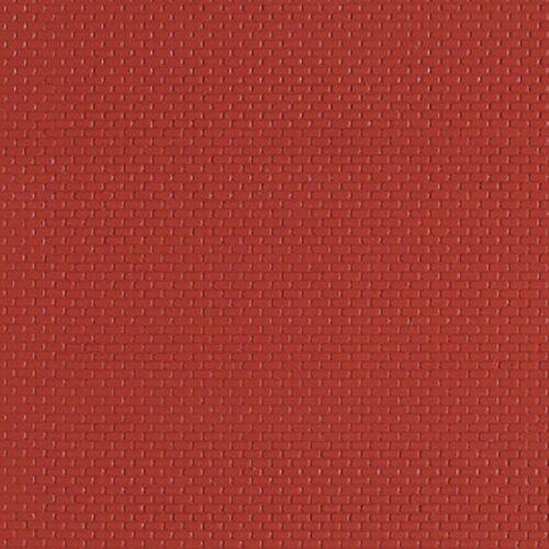 112,50€//m,² Mauerplatte Ziegelstein rot 100 x 200 mm Auhagen 52412 H0 1:87 TT