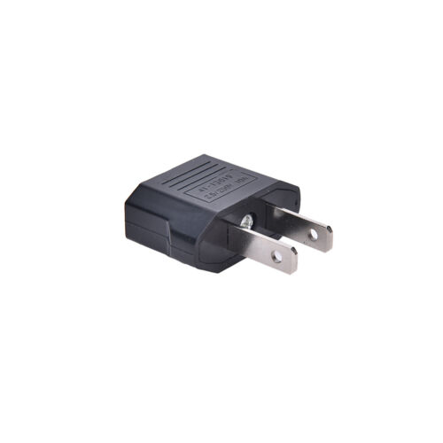 4PCS EU Euro Europe to US USA Power Jack Wall Plug Converter Travel Adapter Jf