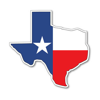 Texas Map Silhouette Flag Vinyl Car Van Ipad Laptop Sticker Ebay