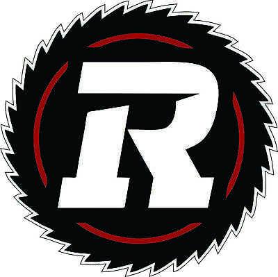 "Ottawa Red Blacks CFL Football bumper sticker large decor vinyl decal 8.5/""x 8.5/"""