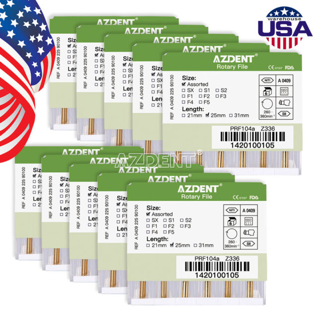 20Box Dental Endo Root Canal Rotary Heat Activated Files 25mm SX-F3 Engine Use
