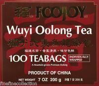 Foojoy Wuyi Oolong Tea( Individually Wrapped ) 100 Tea Bags,net Weight 7 Oz