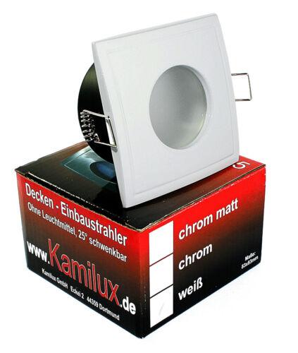 Douche 5 W 12 V et salle de bain ip65 DEL installation projecteur Downlights Aqua Square