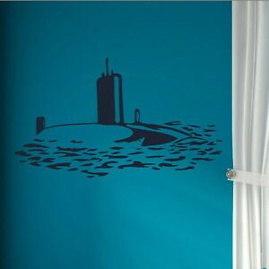 Submare Art Wall Decal  Large Art Decor  Big Removable Vinyl Decal ne46 - Tamworth, Staffordshire, United Kingdom - You Are welcome to return an order within 14 days if you are unhappy for any reason, should the return be due to an error by us we will pay return postage otherwise the buyer will be responsible for the return pos - Tamworth, Staffordshire, United Kingdom