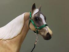 Traditional Scale Forest Green Model Horse Halter For Breyer