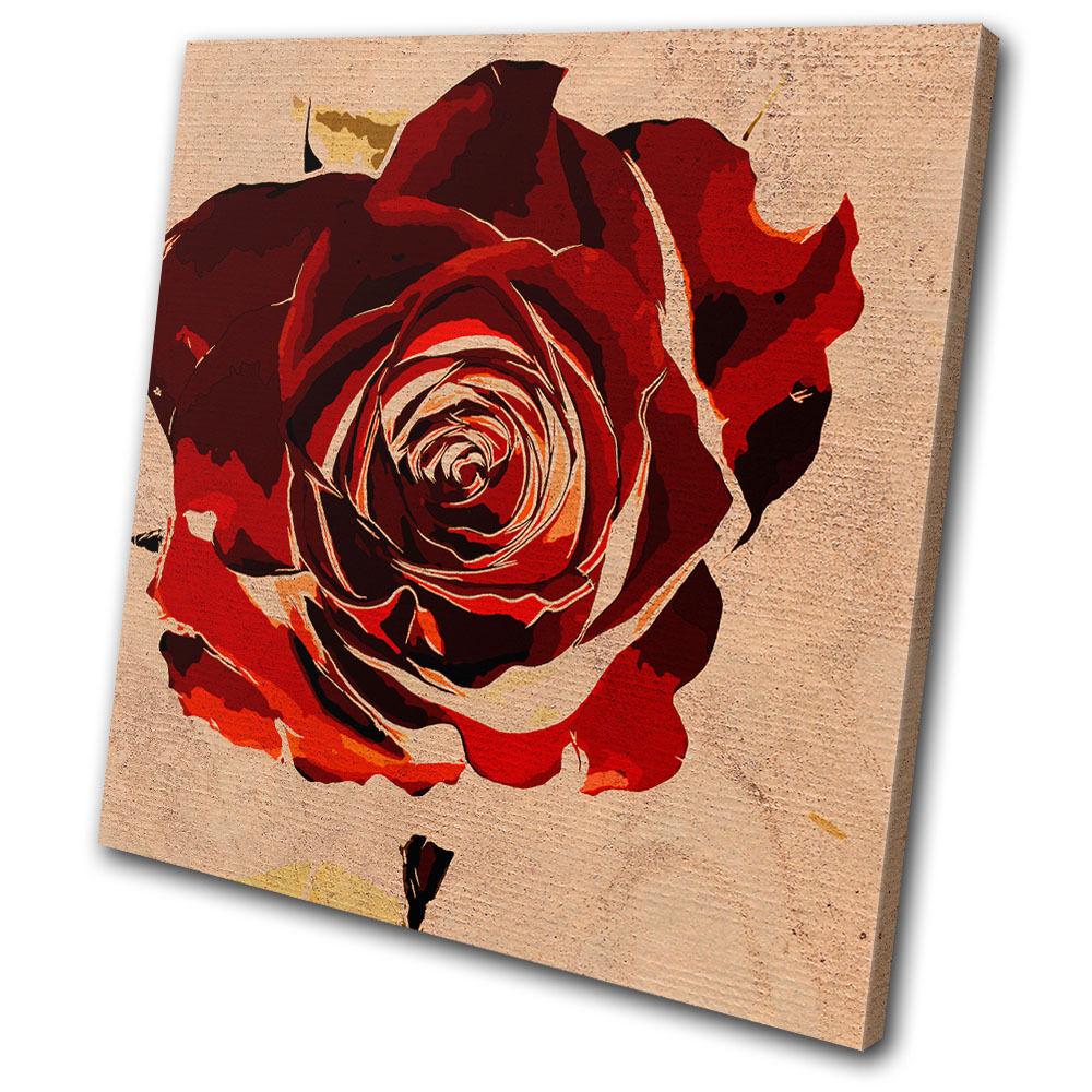 Floral Floral Floral Abstract rosa Love SINGLE TELA parete arte foto stampa 259113