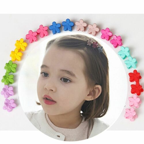 20//30 PCS Kids Baby Plastic Girls Hairpins Mini Claw Hair Clips Clamp Flower