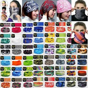 Bandana Head Face Cover Neck Gaiter Snood Headwear Beanie Tube Scarf Men Women