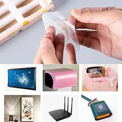Double Sided Adhesive Wall Hooks Hanger Strong Transparent Suction Cup Sucker